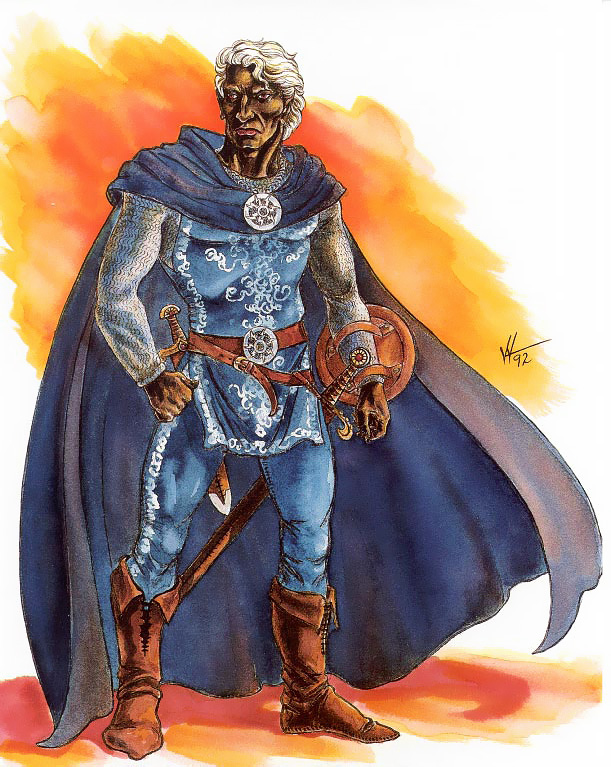 d&d dark elf Personalità drow: Marckarius di Menzoberranzan - by Valerie Valusek TSR - Forgotten Realms Boxed Set, Menzoberranzan (1992-09) © Wizards of the Coast & Hasbro