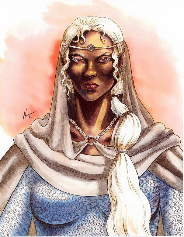 d&d dark elf Personalità drow: Narcelia di Menzoberranzan - by Valerie Valusek TSR - Forgotten Realms Boxed Set, Menzoberranzan (1992-09) © Wizards of the Coast & Hasbro