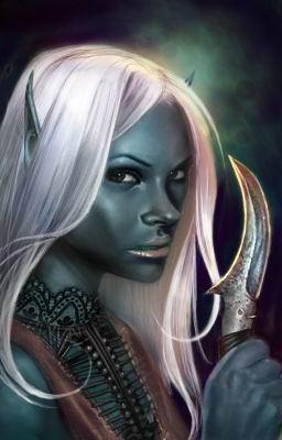 d&d dark elf Portrait di Drow, Nathyrra Videogame: Neverwinter Nights, Hordes of the Underdark (2003-12) © Atari, Wizards of the Coast & Hasbro