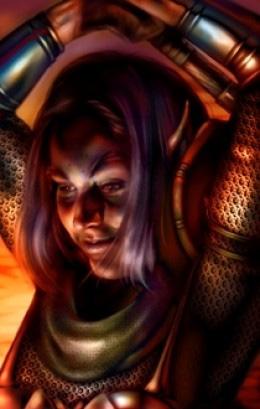 d&d dark elf Portrait di Viconia, la drow fuggitiva nella saga dei Figli di Baal Videogame: Baldur's Gate (1998-12) © Interplay, Black Isle Studios, Wizards of the Coast & Hasbro