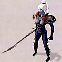 d&d dark elf drow ps2 Rendering preparatorio elfa scura in Dark Alliance Videogame: Baldur's Gate, Dark Alliance (2001-12) © Interplay, Wizards of the Coast & Hasbro