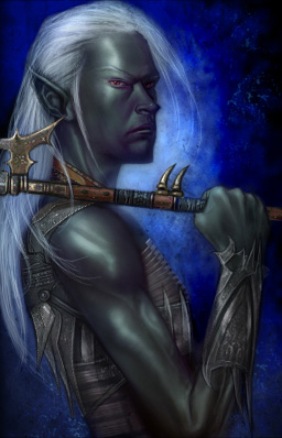 d&d dark elf Portrait di Drow maschio Videogame: Neverwinter Nights, Hordes of the Underdark (2003-12) © Atari, Wizards of the Coast & Hasbro