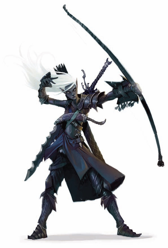 dark elf drow wanderer Drow vagabondo - by Chippy Dugan Forgotten Realms, Player's Guide (2008-09) © Wizards of the Coast & Hasbro