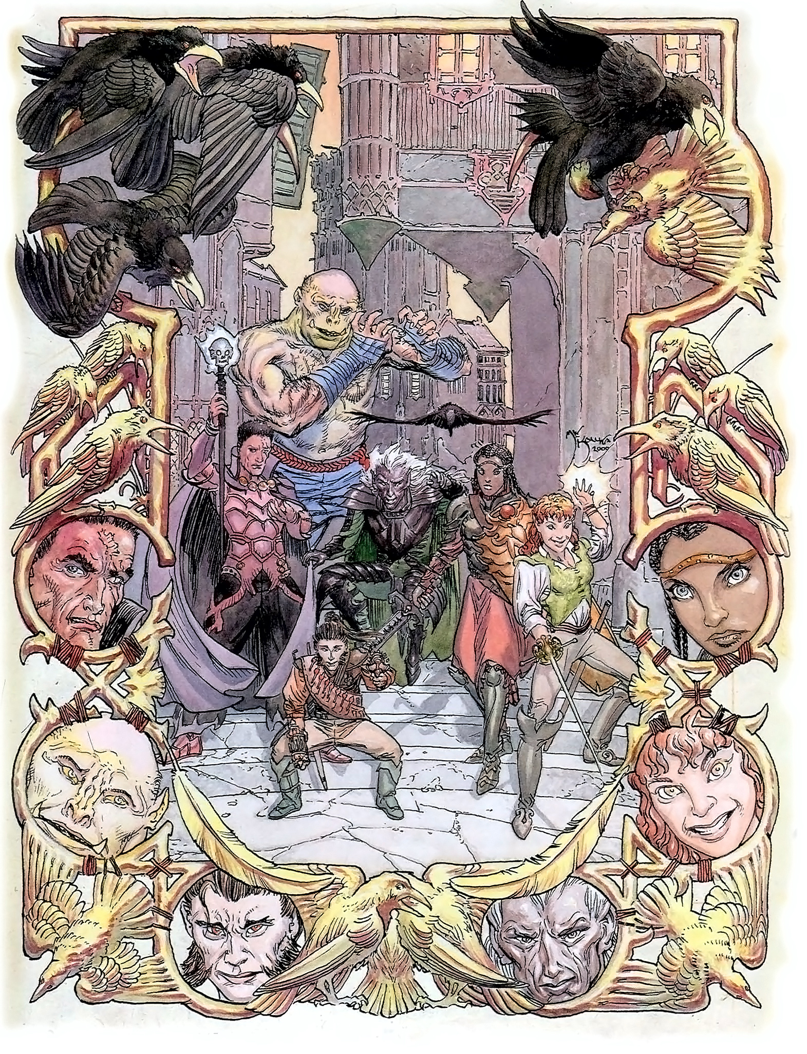d&d dark elf half-elf half-orc halfling Drow, halfling, mezzelfo, mezzorco... TSR - Polyhedron Magazine #145 (2000-12) © Wizards of the Coast & Hasbro
