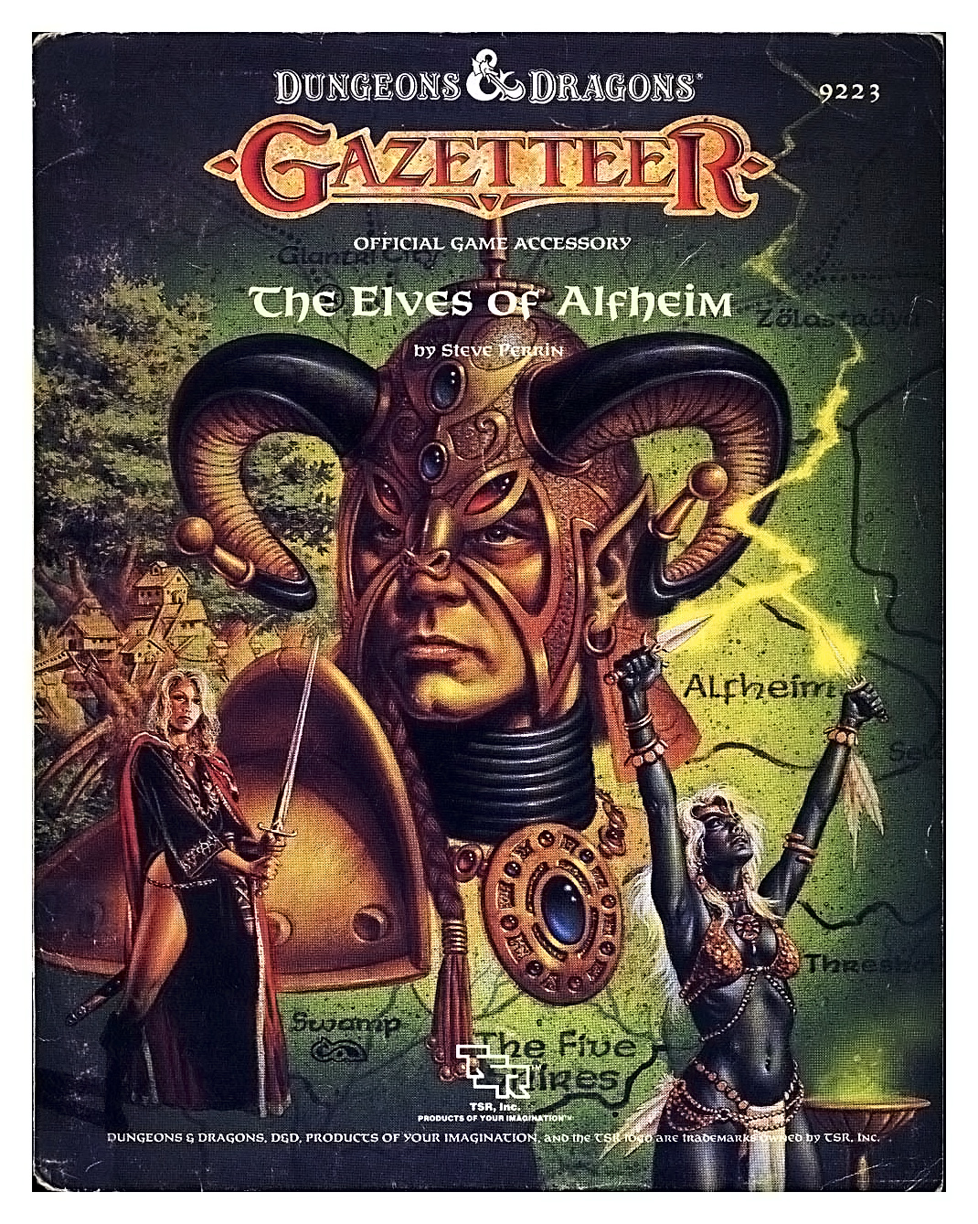 dark elf high elf wood elf Drow e altri elfi di Alfheim (la regione di Mystara...) - by Clyde Caldwell TSR - Gazetteer, The Elves of Alfheim (1988-03) © Wizards of the Coast & Hasbro