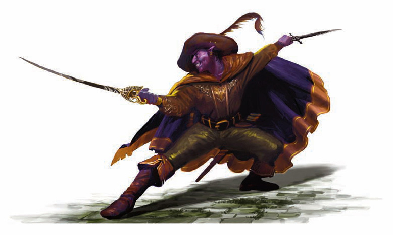 dark elf Drow, Jarlaxle Baenre - by James Zhang Forgotten Realms Campaign Guide (2008-08) © Wizards of the Coast & Hasbro