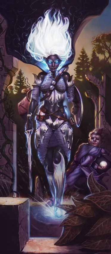 dark elf Drow power! - by Jason Rainville Dragon Magazine #389 (2010-07) © Wizards of the Coast & Hasbro