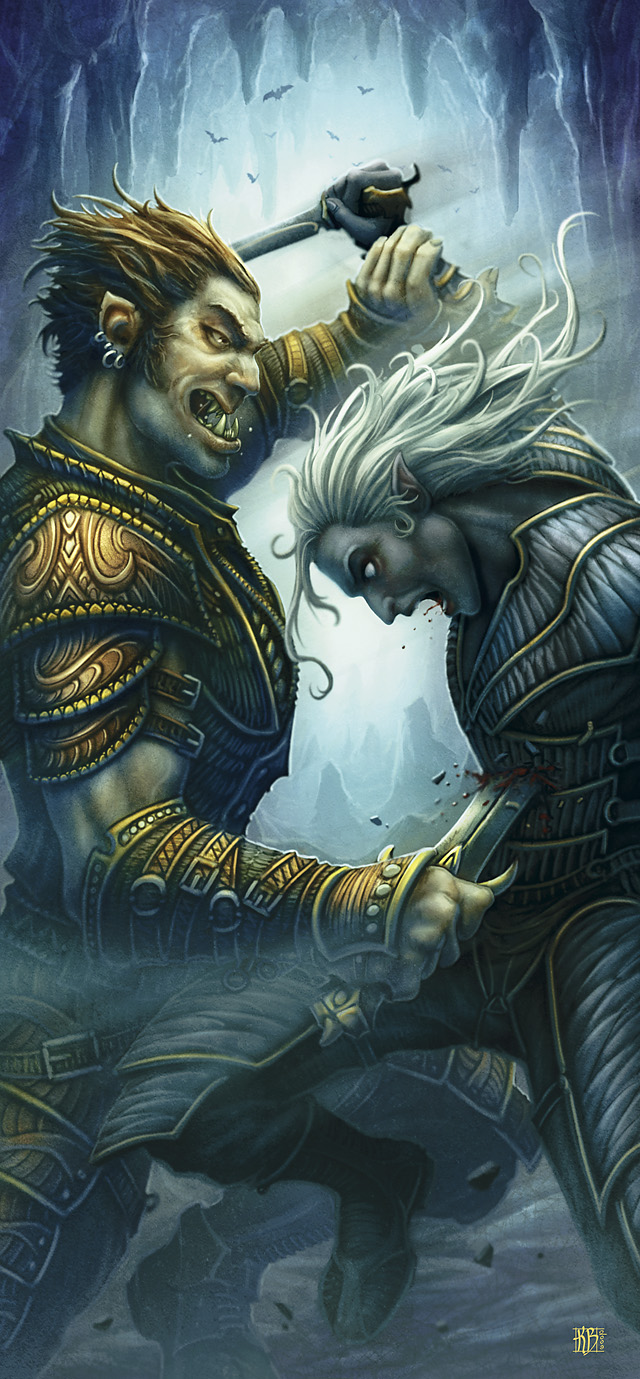 dark elf orc Drow ha la peggio contro orco - by Kerem Beyit Martial Power 2 (2010-02) © Wizards of the Coast & Hasbro