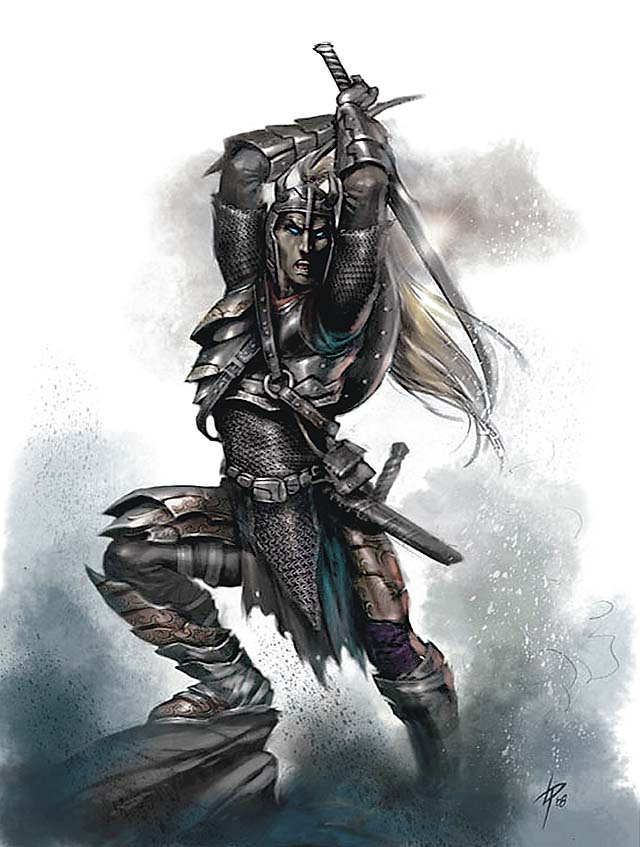 dark elf Drow - by Lucio Parrillo Martial Power (2008-11) © Wizards of the Coast & Hasbro