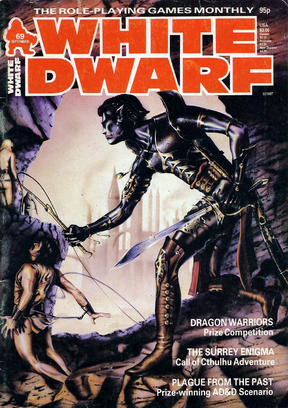 dark elf Drow schiavista - by Mark Bromley White Dwarf #69 (1985-09) © Wizards of the Coast & Hasbro