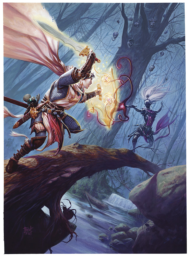 dark elf Drow - by Ralph Horsley D&D Essentials, Heroes of the Fallen Lands (2010-09) © Wizards of the Coast & Hasbro