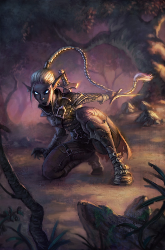 dark elf Drow - by Scott Altman Neverwinter Campaign Setting (2011-08) © Wizards of the Coast & Hasbro