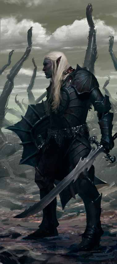 dark elf Drow - by Slawomir Maniak Dragon Magazine #390 (2010-08) © Wizards of the Coast & Hasbro