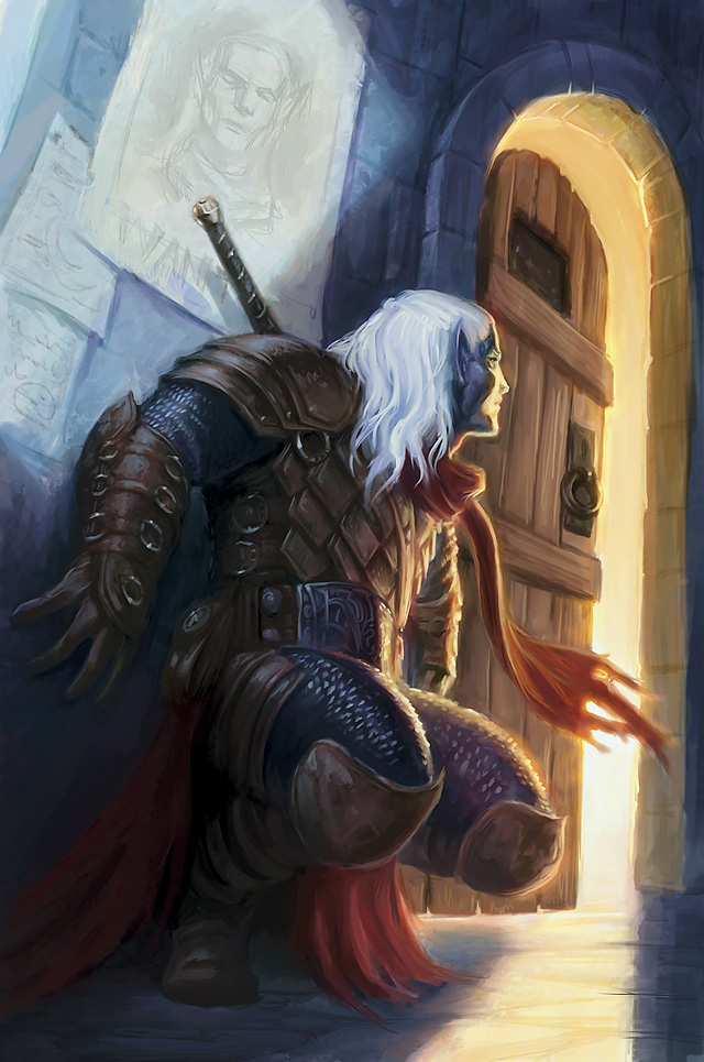 d&d dark elf Drow - by Tyler Walpole Neverwinter Campaign Setting (2011-08) © Wizards of the Coast & Hasbro