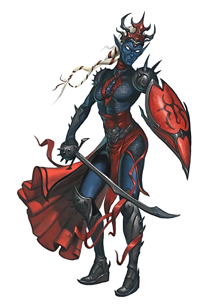 d&d dark elf Drow, dal Bestiario - by Warren Mahy Pathfinder Roleplaying Game, Bestiary (2009) © Paizo Publishing, Wizards of the Coast & Hasbro
