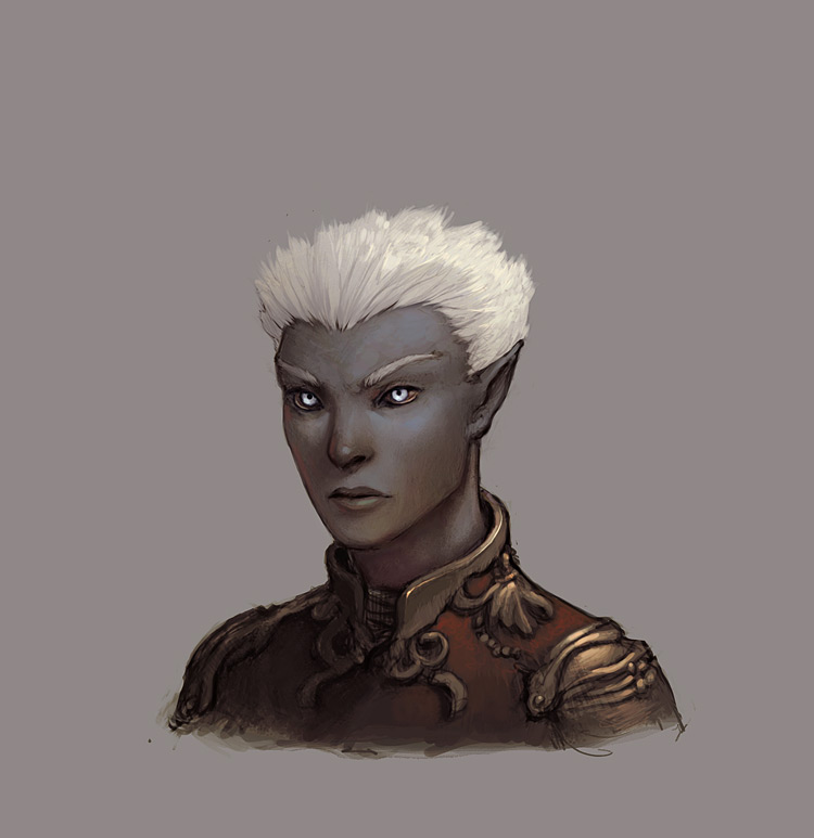 d&d dark elf Drow - concept art Videogame: Neverwinter Nights 2 (2006-10) © Atari, Wizards of the Coast & Hasbro