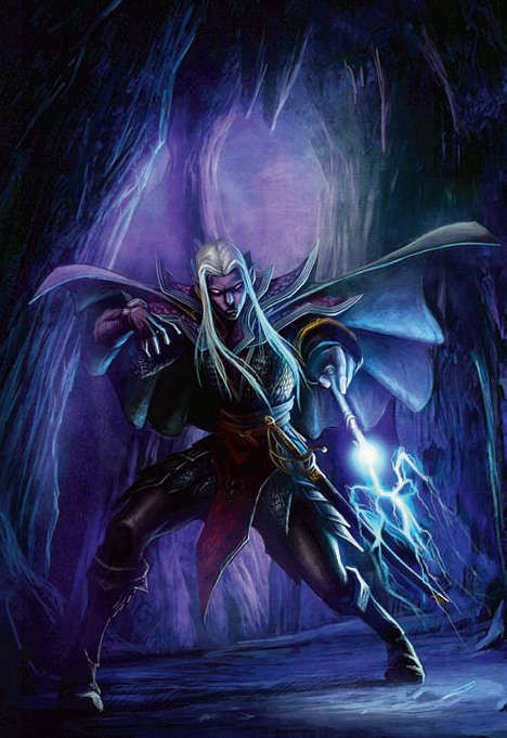 "d&d dark elf Drow ""darkwalker""- by James Zhang Forgotten Realms Player's Guide (2008-09) © Wizards of the Coast & Hasbro"