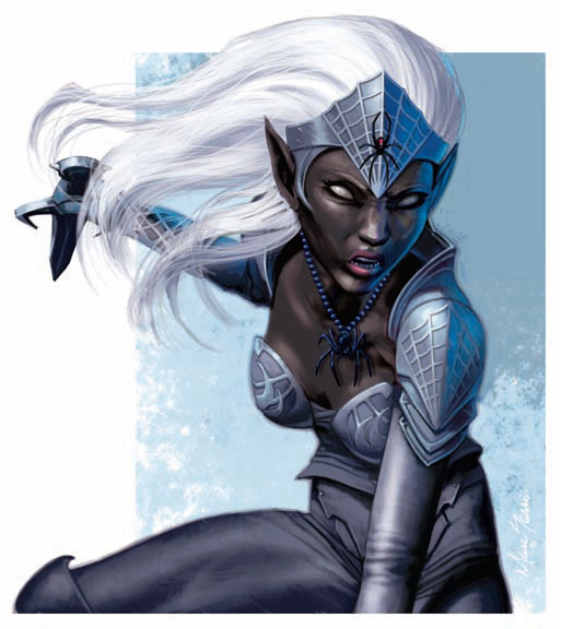 dark elf Drow matrona - by Marc Sasso Adventurer's Vault (2008-09) © Wizards of the Coast & Hasbro
