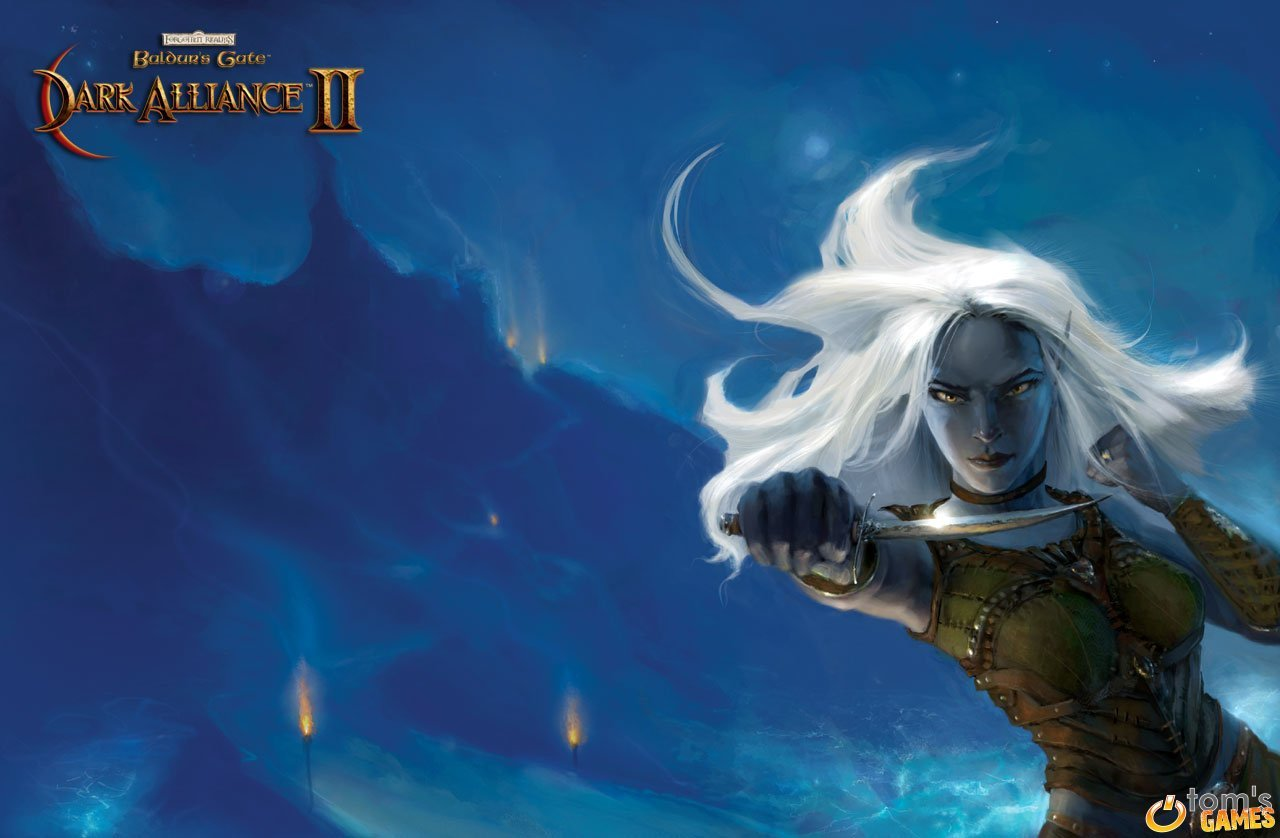 drow dark elf Altro wallpaper di Dark Alliance II Videogame: Baldur's Gate, Dark Alliance II (2004-01) © Vivendi, Wizards of the Coast & Hasbro