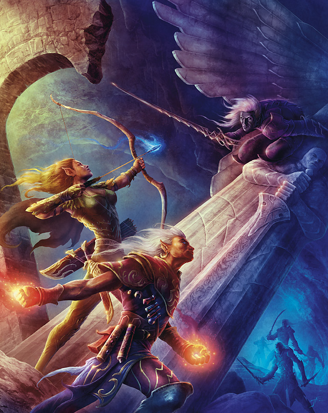 d&d dark elf Elfo, eladrin e drow - by Jason A. Engle The Plane Above, Secrets of the Astral Sea (2010-04) © Wizards of the Coast & Hasbro