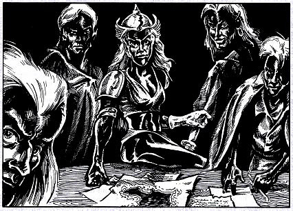 d&d dark elf strategie dei drow - by Jaime Lombardo e Ron Hill TSR - Forgotten Realms Boxed Set, Menzoberranzan (1992-09) © Wizards of the Coast & Hasbro