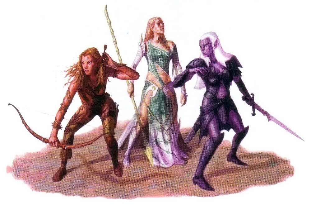 d&d dark elf presentati drow, elfo e eladrin in 4a edizione Wizards presents, Races and Classes (2007-12) © Wizards of the Coast & Hasbro