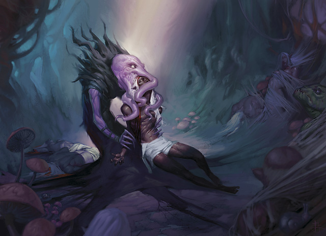 dark elf illithid Mind flayer divora il cervello di un drow - by Tyler Jacobson Neverwinter Campaign Setting (2011-08) © Wizards of the Coast & Hasbro