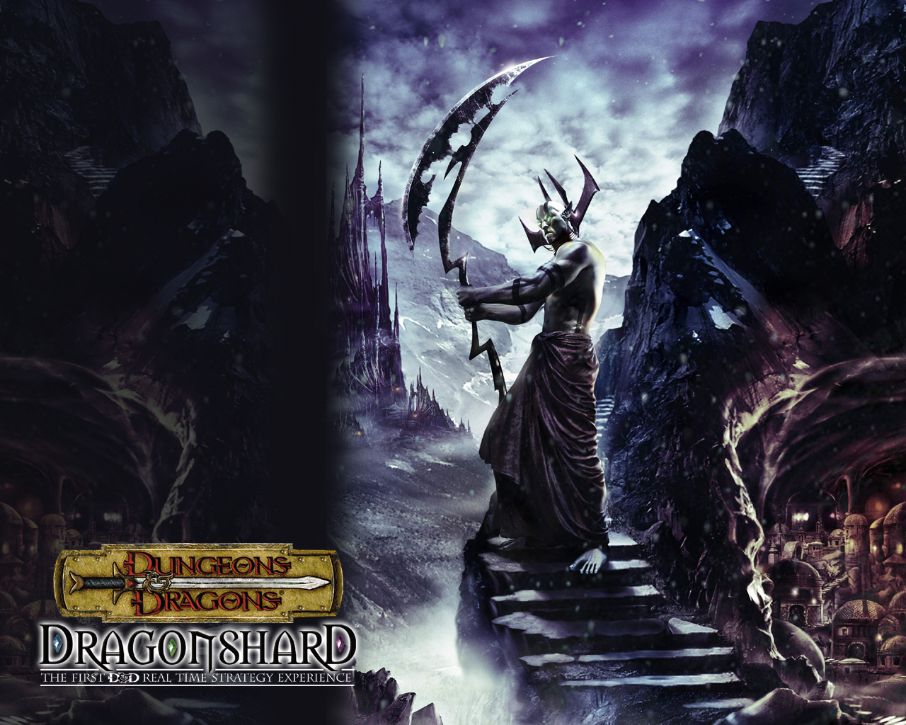d&d dark elf drow eberron Wallpaper, Satros campione degli Umbragen Videogame: Dungeon & Dragons, Dragonshard (2005-09) © Atari, Wizards of the Coast & Hasbro