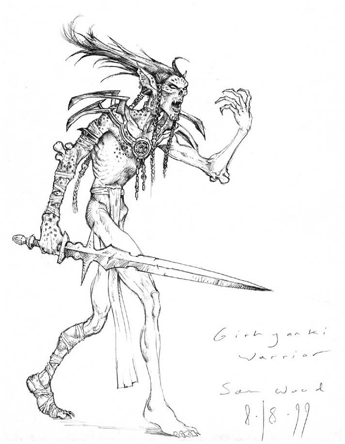 sketch Studio non utilizzato per githyanki - by Sam Wood Monster Manual (2000) © Wizards of the Coast & Hasbro