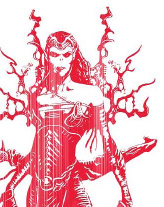 sketch Chireka, generalessa githyanki, illustrazione promozionale Videogame: Forgotten Realms, Demon Stone (2004-11) © Atari, Stormfront Studios, Wizards of the Coast & Hasbro