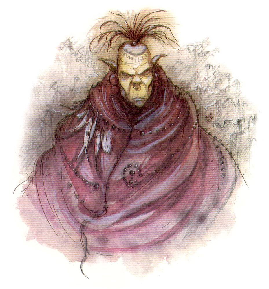 "sigil Djhek'nlarr il githyanki ""cartografo"" - by Tony Diterlizzi TSR - Uncaged, Faces of Sigil (1996-03) © Wizards of the Coast & Hasbro"