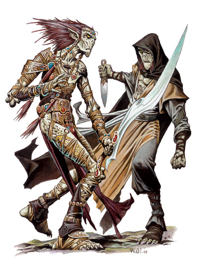 {$tags} Githyanki e Githzerai - by Wayne Reynolds Manuale dei Piani (2005) © Wizards of the Coast, 25 Edition & Hasbro