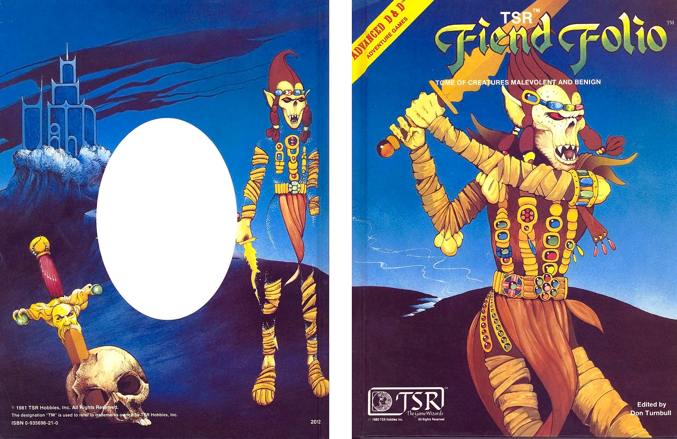 {$tags} Githyanki in copertina - by Emmanuel Fiend Folio (1981) © Wizards of the Coast & Hasbro