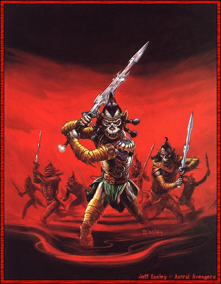astral avengers Githyanki, vendicatori astrali! Sempre in copertina - by Jeff Easley Tales of the Outer Planes (1988-04) © Wizards of the Coast & Hasbro