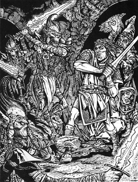 {$tags} Githyanki - by Russ Nicholson Fiend Folio (1981) © Wizards of the Coast & Hasbro