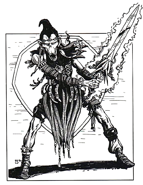 {$tags} Githyanki - by Thomas Baxa TSR - Monstrous Compendium, Outer Planes Appendix (1991) © Wizards of the Coast & Hasbro