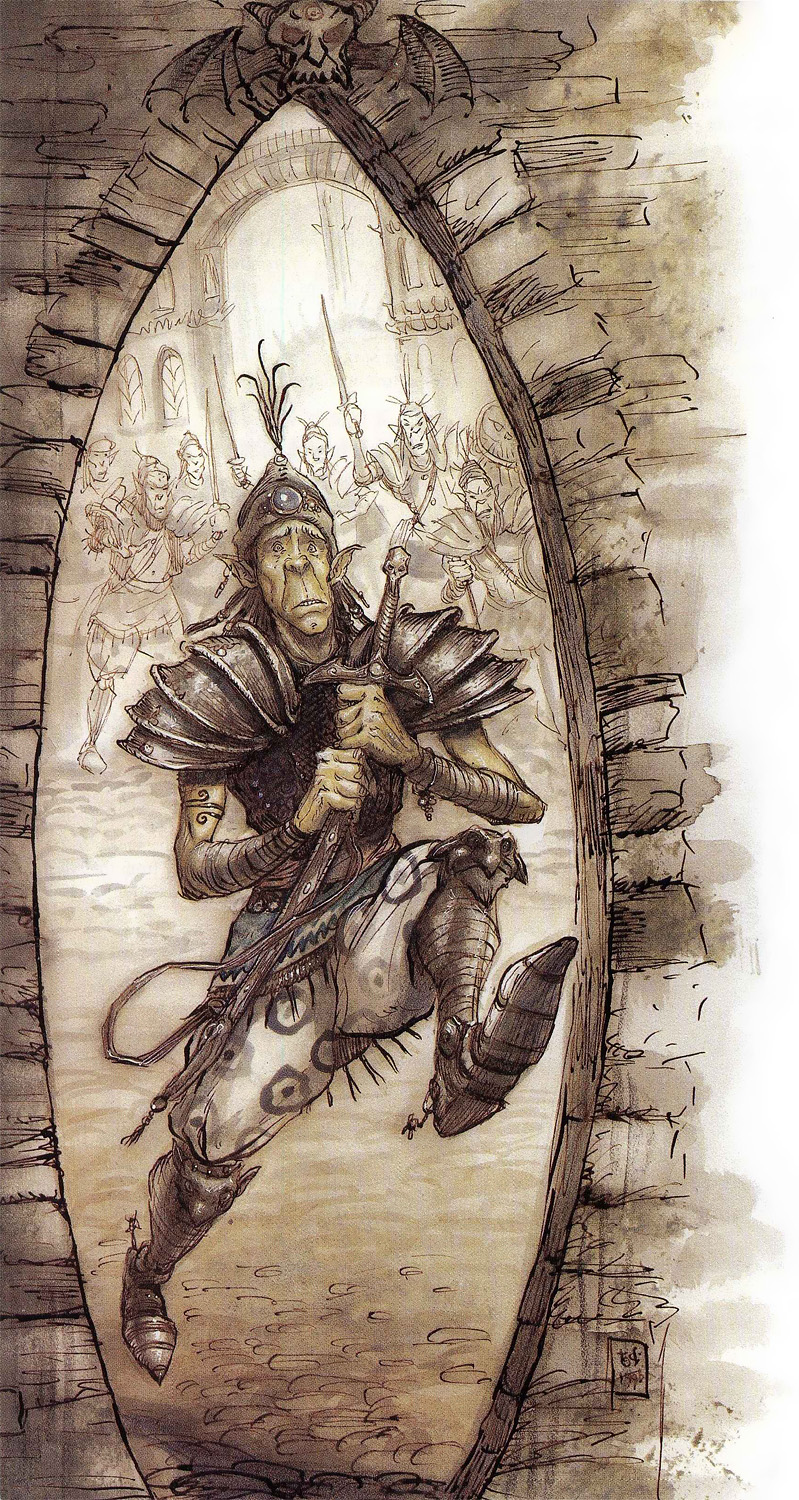 {$tags} Githyanki in fuga - by Tony Diterlizzi TSR - A Guide to Astral Plane (1996-10) © Wizards of the Coast & Hasbro