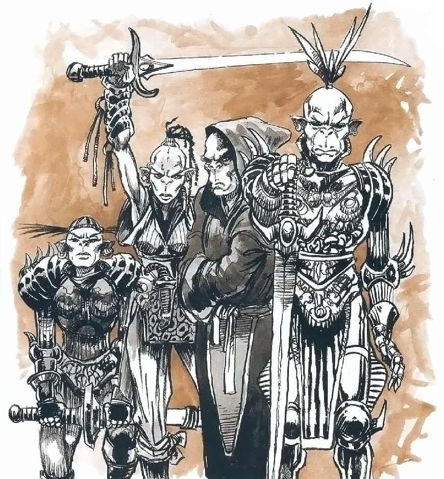 {$tags} Squadra githyanki - by Hannibal King TSR - Tales From the Infinite Staircase (1998-05) © Wizards of the Coast & Hasbro