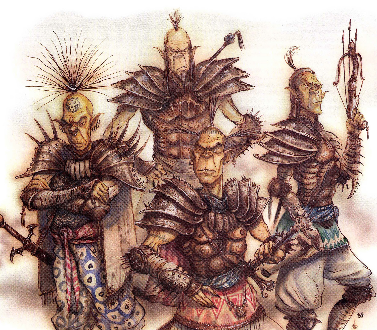 {$tags} Squadra githyanki - by Tony Diterlizzi TSR - A Guide to Astral Plane (1996-10) © Wizards of the Coast & Hasbro