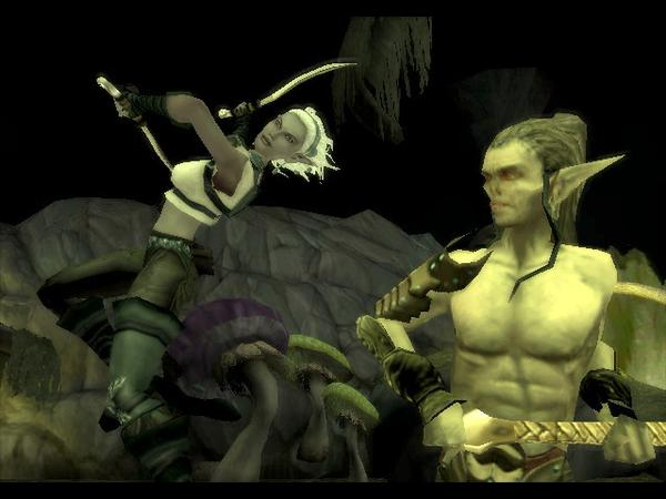 {$tags} Githyanki e Zhai la mezzo-drow, screenshot Videogame: Forgotten Realms, Demon Stone (2004-11) © Atari, Stormfront Studios, Wizards of the Coast & Hasbro