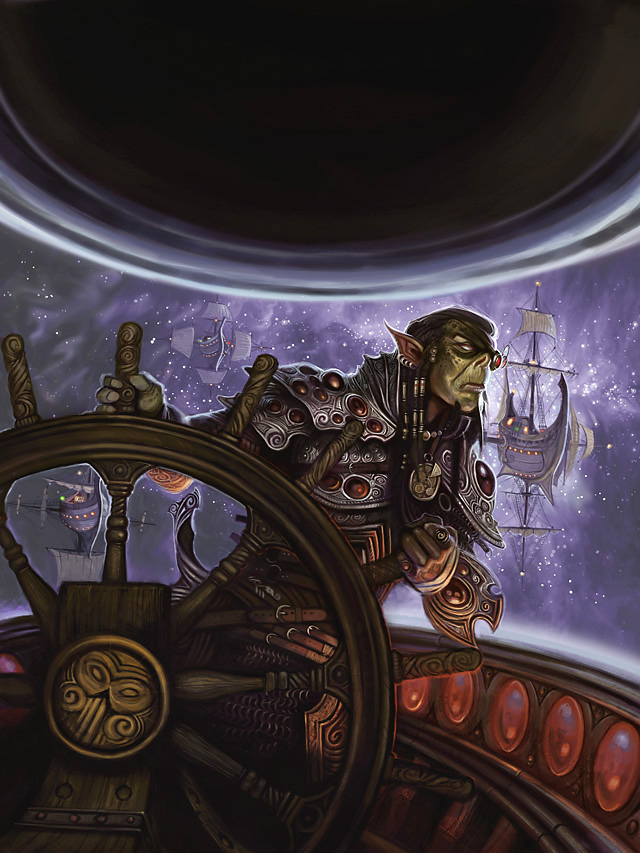 {$tags} Githyanki sul ponte di una nave astrale - by William O'Connor The Plane Above, Secrets of the Astral Sea (2010-04) © Wizards of the Coast & Hasbro
