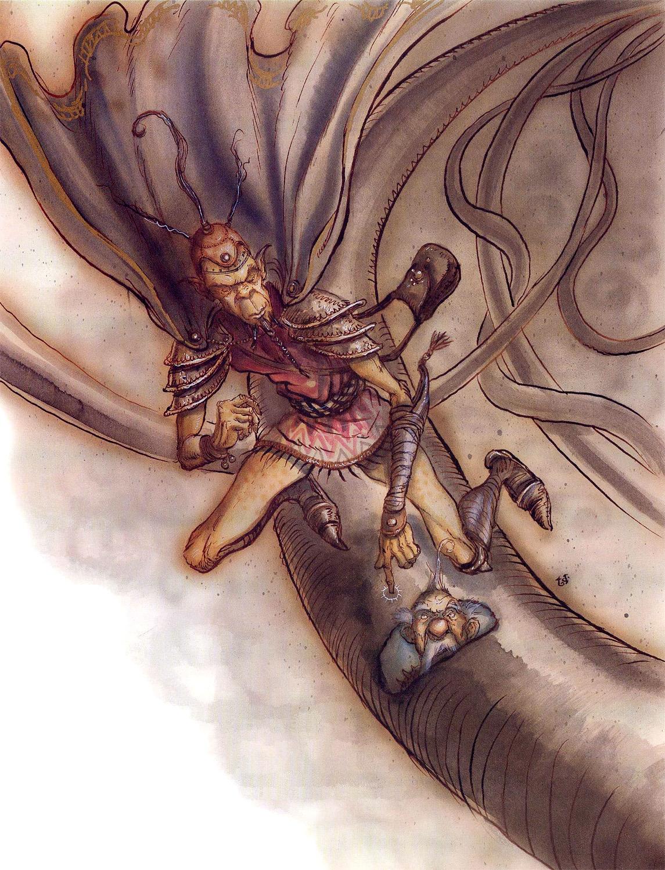 astral conduit Mago githyanki con un condotto astrale - by Tony Diterlizzi TSR - A Guide to Astral Plane (1996-10) © Wizards of the Coast & Hasbro