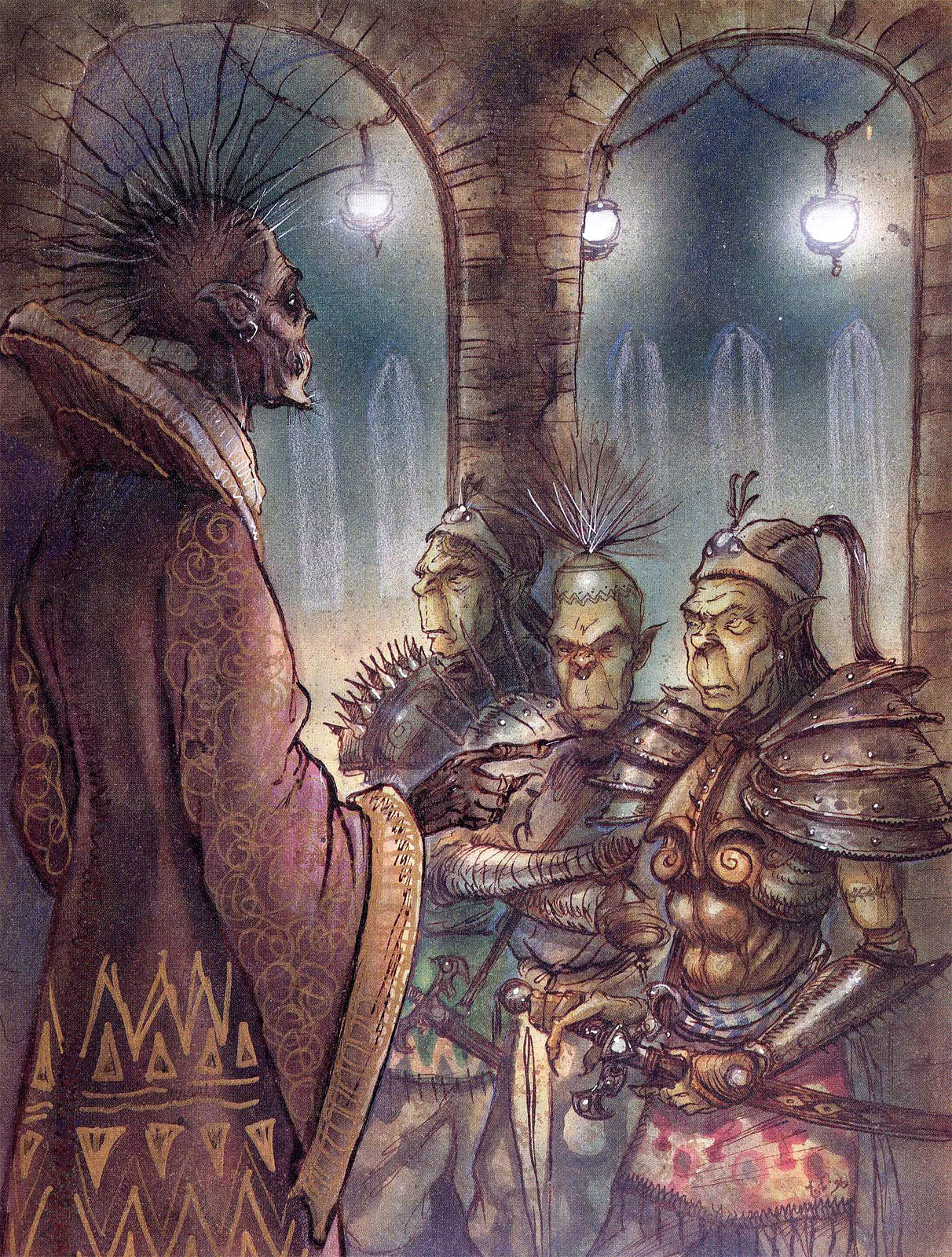 {$tags} Githyanki e un istruttore Lich - by Tony Diterlizzi TSR - A Guide to Astral Plane (1996-10) © Wizards of the Coast & Hasbro