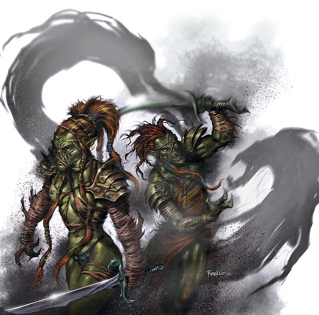 shadow Githyanki e ombre, non pubblicata - by Lucio Parrillo Player's Options, Heroes of Shadow (2011-04) © Wizards of the Coast & Hasbro
