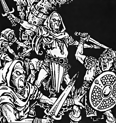 {$tags} Gruppo di githzerai Fiend Folio (1981) © Wizards of the Coast & Hasbro