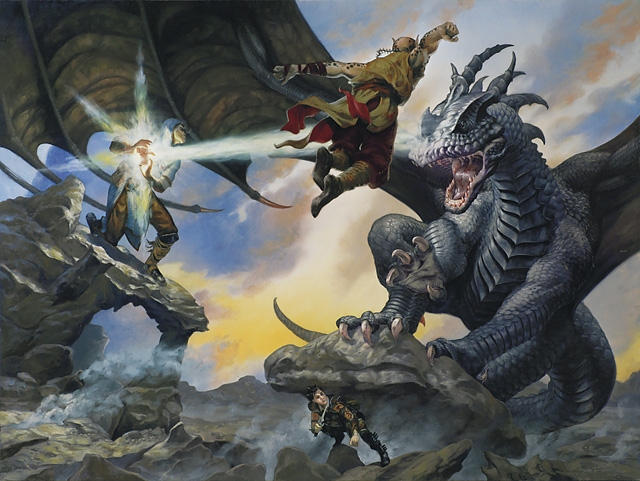 iron dragon Githzerai e drago di ferro - by Randy Gallegos Player's Handbook 3 (2010-03) © Wizards of the Coast & Hasbro