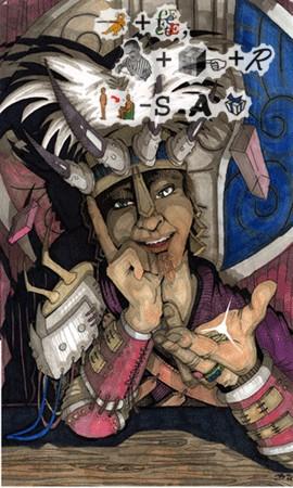 """JordarAd """"Jeremo the Natterer"""", illustrazione realizzata per il sito planewalker.com - by Jordan C. Brun (JordarAd) jordar.deviantart.com (2006) © dell'autore tutti i diritti riservati"""