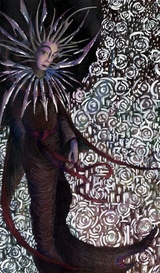 """JordarAd """"The Lady of Pain Over the Wards"""", illustrazione realizzata per il sito planewalker.com - by Jordan C. Brun (JordarAd) jordar.deviantart.com (2006) © dell'autore tutti i diritti riservati"""