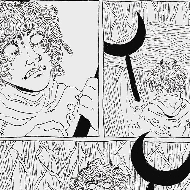 kayla-cline fumetto di Strix la tiefling, preview 2 - by Kayla Cline www.kaylacline.com (2018-04) © dell'autore, tutti i diritti riservati