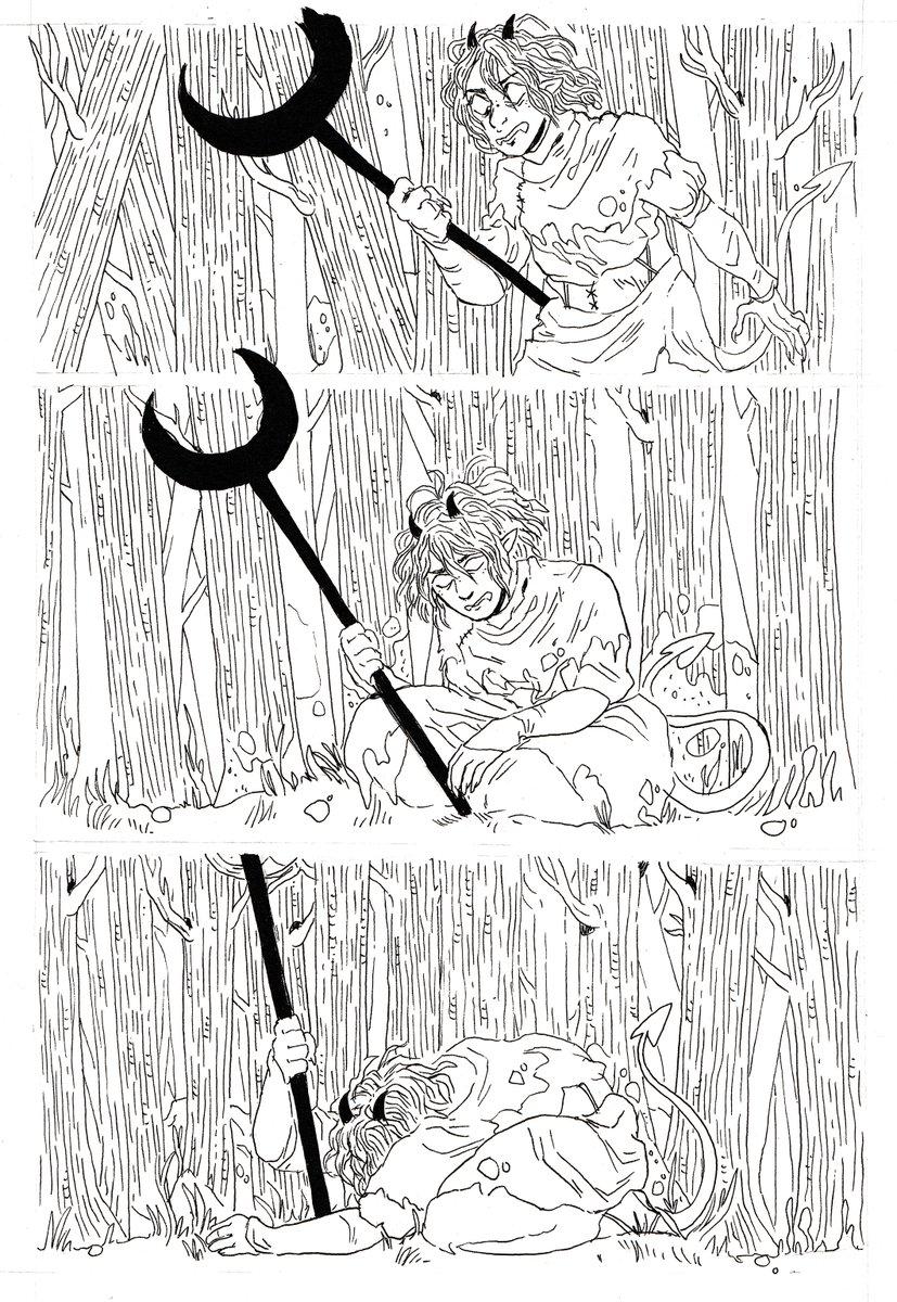 kayla-cline fumetto di Strix la tiefling, inchiostri 4 - by Kayla Cline www.kaylacline.com (2018-05) © dell'autore, tutti i diritti riservati